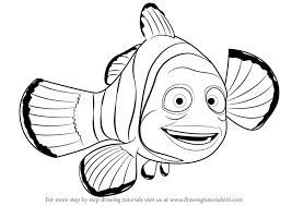 step step draw marlin finding nemo