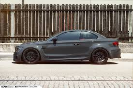 matte grey bmw this bmw 1m looks simply ferocious on matte black rims