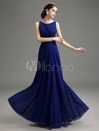 blue prom dress 2017 long chiffon mermaid evening dress royal blue