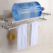 shelves with towel racks