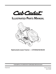 club cadet 725 04762 wiring diagram cub cadet ltx 1040 parts