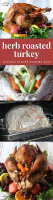 herb roasted turkey cooked in oven cooking bag recipe herb