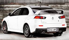 automotive database mitsubishi lancer evolution