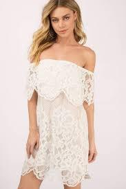 white dress pretty white day dress shoulder dress shift dress s 125