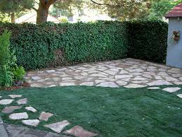 Backyard Stone Ideas by Appealing Crushed Stone Floor For Patio Garden Ideas Walkways