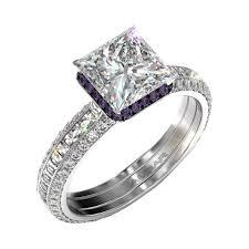 engagement rings square images Silvet blaze engagement ring set for square diamond jpg