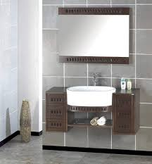 bathroom basin ideas artistic wooden bathroom cabinets feats white sink and mirror on