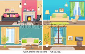 art studio interior creative workshop room stock vector 579023902