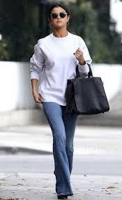 selena gomez sweater sweater flare denim selena gomez streetstyle