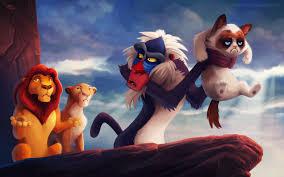 Rafiki Meme - humor grumpy cat the lion king cat rafiki soft shading memes