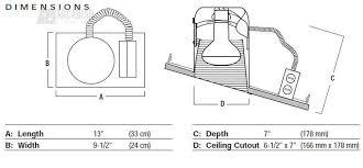 Sloped Ceiling Recessed Lighting Nora Lighting Nh 926q 6 Standard Sloped Ceiling Recessed Light