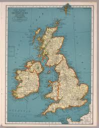 Map Of British Isles Rand Mcnally Popular Map Of British Isles 1939 1188 1536