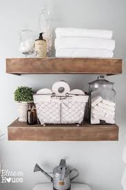 Floating Wood Shelves Diy by Best 25 Shelves Over Toilet Ideas On Pinterest Toilet Shelves