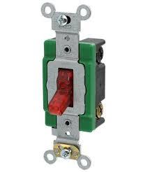 double pole light switch 30 amp 120 volt toggle pilot light illuminated on double pole ac
