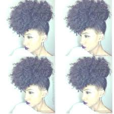black natural hairstyles for medium length hair curly side puff