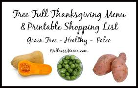 how to plan a healthy thanksgiving menu recipes printable