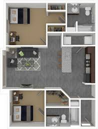 floorplans the den columbia mizzou 2 u0026 4 bedroom apartments