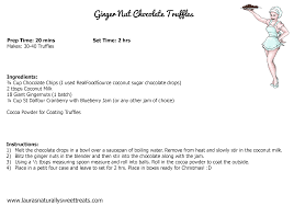 your joomla site ginger nut chocolate truffles recipe card