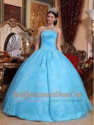 aqua blue quinceanera dresses aqua blue gown strapless floor length organza appliques