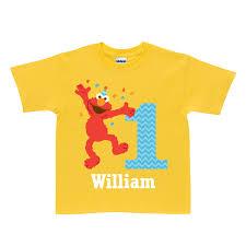 sesame birthday the official pbs kids shop sesame elmo birthday yellow t shirt
