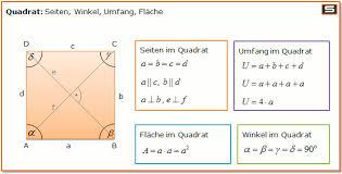 rechteck fläche berechnen quadrat berechnen umfang flächeninhalt diagonalen