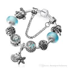 bracelet pandora murano images European beads fit pandora bracelets murano glass sea blue charms jpg