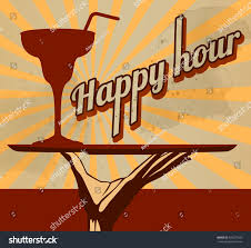 martini vintage vintage flyer cocktail special offer happy stock vector 428277520