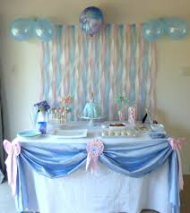streamer backdrop blue birthday party ideas pink blue streamer backdrop and wands on