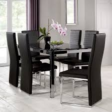 Glass Dining Tables And 6 Chairs Dining Room Glass Top Dining Table Set 6 Chairs Souq With Room