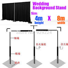 wedding backdrop size backdrop stand for wedding 4m x 8m stainless steel pipe wedding