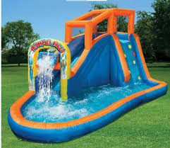 inflatable water slide pool bounce house commercial bouncer