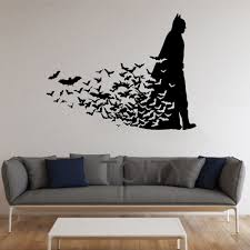 home interior wall art batman wall sticker dark knight poster movie comics vinyl decal