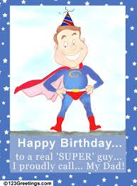 my super dad free mom u0026 dad ecards greeting cards 123 greetings