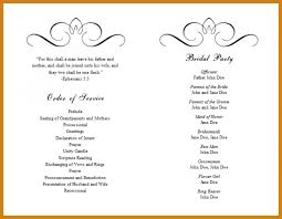 template for wedding programs wedding program template word letter format template