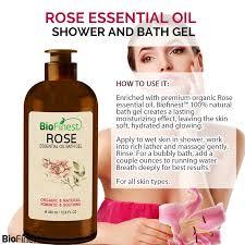 rose essential oil shower gel premium grade