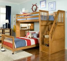 Bunk Beds For Sale At Low Prices Brown Wooden Bunk Beds With Stairs And Desk With Some Drawers The Stairs Jpg
