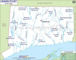connecticut on map buy connecticut rivers map