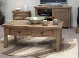 furniture rustic coffee table with pattern rug and wood table