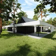 le si e dwa domy w lesie estonia projekt tamizo architects mateusz