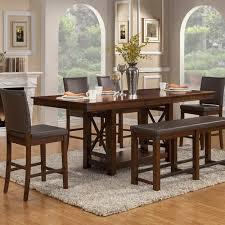 loon peak extendable dining table loon peak wayland counter height extendable dining table walmart com