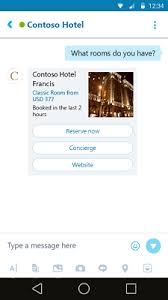 what are skype bot cards carousel thumbnail receipt