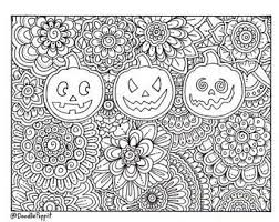 halloween coloring etsy