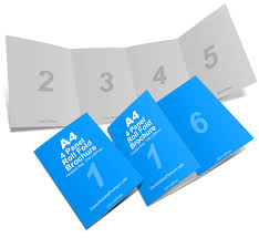 brochure 4 fold template 4 panel a4 roll fold brochure mockup business
