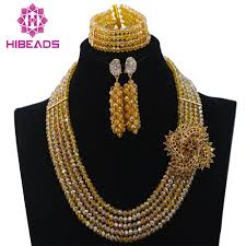 indian bridal necklace images Buy crystal beads jewelry set nigerian african jpg