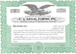 the importance of stock certificates u s legal forms inc