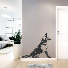 german shepherd sitting wall decal
