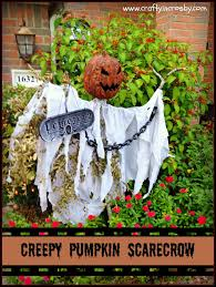 scarecrow halloween decorations crafty in crosby creepy pumpkin scarecrow