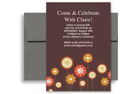 flowers background sixth birthday invitation wording 5x7 in
