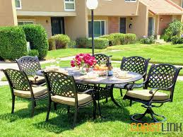 7 Piece Aluminum Patio Dining Set - nevada 7 piece cast aluminum patio dining set coastlink furniture