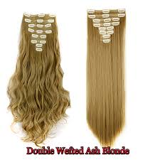 weft hair extensions 8 clip in real thick hair weft hair